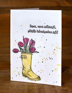 Keväinen kumpparikortti.