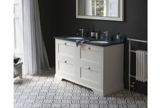 The Burlington Sand Double Vanity Unit With Drawers, Worktop & Basin, featuring practical storage space and soft closing drawers. Basin Vanity Unit, Bathroom Collections, Drawers, Vanity Units, Upstairs Bathrooms, Double Vanity Unit, Victorian Bathroom, Bathroom, Bathroom Design