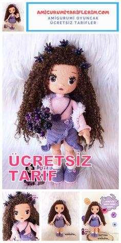 Amigurumi Maya Bebek Yapımı Ücretsiz Tarif - Amigurumi Tariflerim Crochet Dolls Free Patterns, Doll Patterns, Crochet Hats, Nautical Crochet, Cat Amigurumi, Crochet Baby Clothes, Beaded Bags, Doll Crafts, Stuffed Toys Patterns