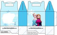 Caixa Lembrancinha Surpresa Frozen Azul