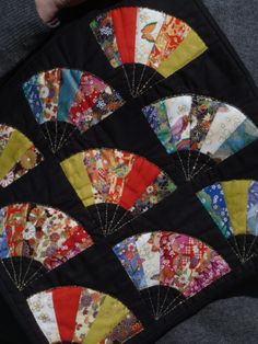 Japanese fan quilt detail