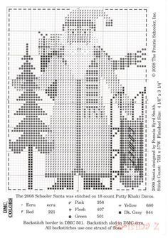 Risultati immagini per prairie schooler designer series santas collection Santa Cross Stitch, Cross Stitch Heart, Cross Stitch Alphabet, Counted Cross Stitch Patterns, Cross Stitch Designs, Cross Stitch Embroidery, Blackwork, Cross Stitch Christmas Ornaments, Christmas Cross