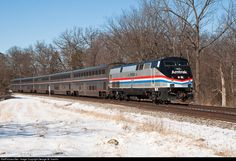 RailPictures.Net Photo: AMTK 822 CSX Transportation (CSXT) GE P40DC at Washington Grove, Maryland by George W. Hamlin