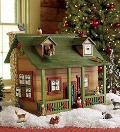 Wooden Advent calendar cabin is a fun way to down the days. Unique Advent calendar has lots of details. A great advent calendar for kids and a family tradition. Wooden Advent Calendar, Advent Calendars For Kids, Advent Calendar House, Advent Calander, Countdown Calendar, Christmas Home, Christmas Lights, Christmas Decorations, Christmas Crafts