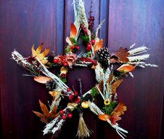 Wiccan Halloween Decorations | ... Halloween Pentagram Wreath. Pagan Wiccan Handmade Altar decoration