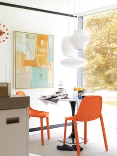Suspensions Cocoon Cigar, Discus et Pear - inspiration mid-century Bubble George Nelson