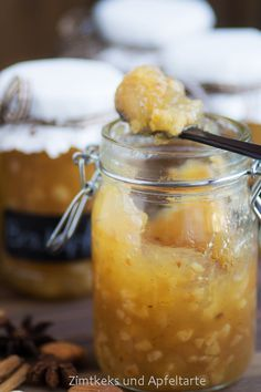 Bratapfel-Marmelade - Spiced-Apple-Jam - Zimtkeks und Apfeltarte