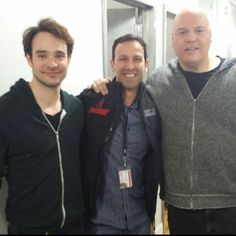 Stunt coordinator Philip Silvera with Charlie Cox and Vincent D'Onofrio | Marvel's Daredevil