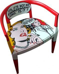 Cadeira Vintage (Vermelha)