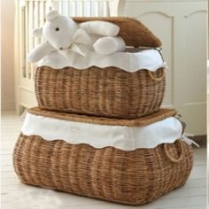 Wicker Toy Box, Available on MyList.ae #toybox #nurseryinspiration #baby #birth #mylist