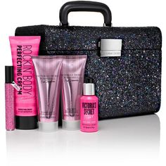 Victoria's Secret Fashion Show Glitter Train Case,printmulti-colored ($75) ❤ liked on Polyvore featuring beauty products, beauty and vs