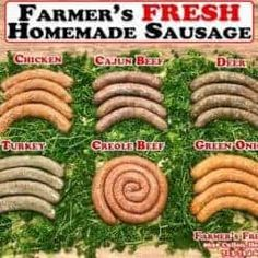 10 Links of Fresh Green Onion Sausage This is a Pork Sausage Beef Sirloin Tip Roast, Beef Chuck Steaks, Beef Ribs, Bake Turkey Wings Recipe, Baked Turkey Wings, Sausage On A Stick, Hot Sausage, Meat Markets, Fried Fish Recipes