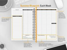 Amazon.com : Best Organization Journal & Personal Calendar Planner to Multiply Happiness & Productivity. Weekly Daily Hourly Planner Notebook w/ Hardcover, 7x10size & 100% Recycled Paper! Freedom Planner - Undated : Office Products