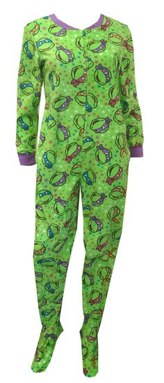 Teenage Mutant Ninja Turtle Onesie Footie Pajama This popular favorite is back! These pajamas for women feature Teenage Mutant . Lazy Day Outfits, Cute Outfits, Visual Kei, Ninja Turtle Onesie, Teenage Ninja Turtles, Grunge, Creepy, Punk, Pajamas Women