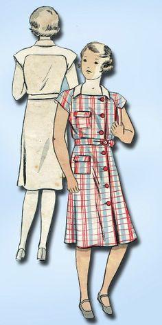 1930s Stellar Toddler's Dress Pattern 1935 Du Barry Sewing Pattern Sz 6