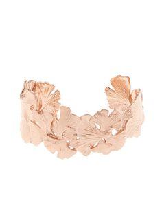Aurélie Bidermann Ginkgo rose gold-plated small cuff