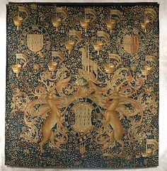 Tapestry with Armorial Bearings and Badges of John, Lord Dynham, ca. 1488–1501. South Netherlandish. The Metropolitan Museum of Art, New York. The Cloisters Collection, 1960 (60.127.1) #cloisters #tapestrytuesday