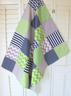 Baby Boy Blanket Nursery Decor Photography Prop by theredpistachio