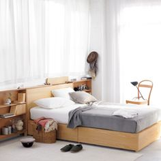 Maybe this will be my new master bedroom bed? More storage for books!!