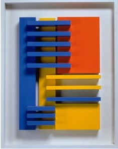 """I've been looking (online) at some of the work of Charles Biederman.an American artist (early to mid to late who created work that might be labeled as """"geometric relief."""" His is the kind. Abstract Sculpture, Wood Sculpture, Wall Sculptures, Wooden Wall Art, Diy Wall Art, Wood Art, Modern Art, Contemporary Art, Cleveland Art"""