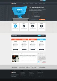 Web Hosting Template by ~ICEwaveGfx on deviantART  #webdesign