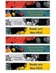Halloween bookmarks Free!