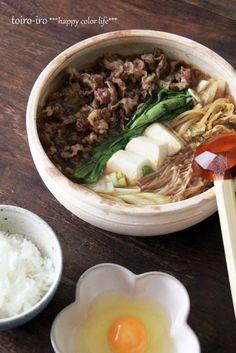 Sukiyaki (Beef, Tofu, and Vegetables) すき焼き
