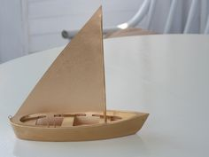 Old toy sail boat - now gilded treasure - very cool for old vintage toys