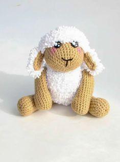 Easy Little Crochet Sheep PDF Amigurumi Free Pattern - Lovelycraft Crochet Sheep, Crochet Baby, Easy Crochet Shrug, Free Pattern, Pattern Books, Crochet Dolls, Get Well Soon, Sewing Patterns Free, Crochet For Baby