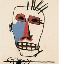 Jean-Michel Basquiat - Urban Art - Underground Style - Neo Expressionism - Untitled (Stdy), 1981