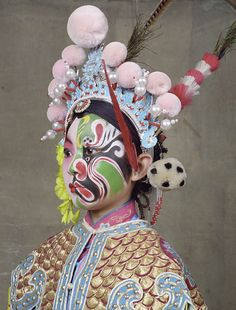 """Charles Freger, the well-known photographer responsible for """"Wilder Mann,"""" visited China and documented the complex and gorgeous costumery of the Beij. Chinese Opera, Chinese Art, Modern Photography, Creative Photography, Portrait Photography, Pekin Opera, Charles Freger, Totems, Oriental Fashion"""