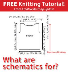 Free Knitting Tutorial from Creative Knitting newsletter:  Knitting Tutorial: What Are Schematics For? by Tabetha Hedrick. Click on the photo to access the tutorial. Sign up for this free newsletter here: www.AnniesNewsletters.com.