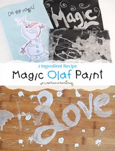 A Little Pinch of Perfect: Frozen Olaf Magic Paint Recipe for Kids-salt water magic!