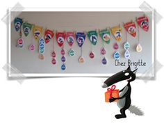 Affichage anniversaires Loup Birthday Wall, Happy Birthday, Decoration Creche, Preschool Printables, Kat Von D, Teaching Kids, Halloween, Ps, Montessori