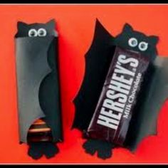Halloween hershey bar bat holder❕