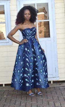 African print maxi dress Blue Maxi Dress Ankara Maxi Dress   Etsy African Print Pencil Skirt, Printed Pencil Skirt, Printed Skirts, African Inspired Fashion, Latest African Fashion Dresses, African Print Fashion, Ankara Maxi Dress, Backless Maxi Dresses, African Print Clothing
