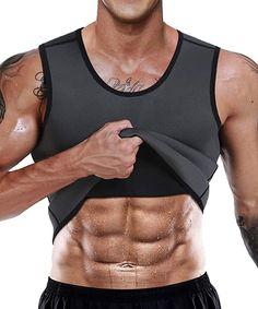 OSS - Men's Waist Trainer Vest - Neoprene Slimming Corset Body Shaper Sweat Suits for Weight Loss Sweat Workout, Workout Vest, Workout Tank Tops, Workout Shirts, Gym Workouts, Waist Workout, Workout Outfits, Waist Trainer For Men, Waist Trainer Corset