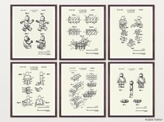 Ultimate Lego Print Collection Lego Patent Print Lego
