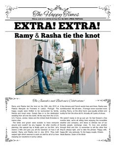 Did Something Similar For My Cruise Wedding Makemynewspaper Engagement Newspaper Templates