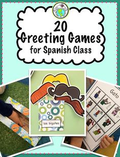 20 Greeting Games for Spanish Class, geared primarily for elementary school but adaptable for all levels. Comes with lots of printables along with activities. Mundo de Pepita, Resources for Teaching Spanish to Children Spanish Lessons For Kids, Learning Spanish For Kids, Spanish Basics, Spanish Lesson Plans, Spanish Activities, Spanish Language Learning, Teaching Spanish, Listening Activities, Elementary Teaching
