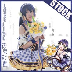 61e6906f0 Anime Collection Lovelive! Love Live!! Bouquet Hand Flower Awaken All  Members Full set cosplay costume Lolita Dress New