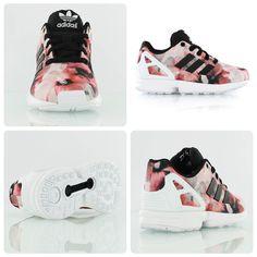 factory price 2884e f839d Adidas Originals Kids ZX Flux floral Floral Sneakers, Floral Shoes, Zx Flux  Floral,