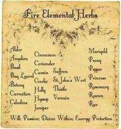 Fire Elemental Herbs