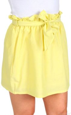 Let Your Love Flow Yellow Bow Tie Skirt