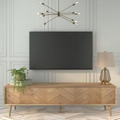 Buy Solid Oak Chevron TV Unit with Sliding Doors - Briana - TV's up to from Appliances Direct - the UK's leading online appliance specialist Tv Unit Interior Design, Tv Unit Furniture Design, Tv Furniture, Living Tv, My Living Room, Modern Living, Tv Unit For Living Room, Minimalist Living, Minimalist Decor