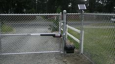 Ravishing Chain Link Fence Double Gate Installation and chain link fence gate bracket Garden Gates And Fencing, Fences, Electric Driveway Gates, Chain Link Fence Gate, Outdoor Fun, Outdoor Decor, Outdoor Ideas, Backyard Ideas, Gate Locks