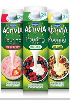 Activia Pouring Yogurt