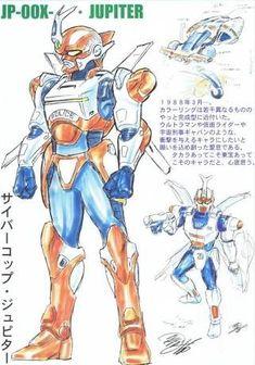 Jupiter early design O Pokemon, Mecha Anime, 90s Kids, Manga, Kamen Rider, Wolverine, Cyberpunk, Concept Art, Disney Characters