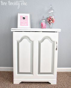 two twenty one: sewing cabinet makeover (painting laminate)