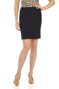 Rekucci Women's Ease Into Comfort Above The Knee Stretch Pencil Skirt 19 inch Knee Stretches, Stretch Pencil Skirt, Classic Skirts, Long Skirts For Women, Fashion Images, Fashion Outfits, Womens Fashion, Suits For Women, Work Wear